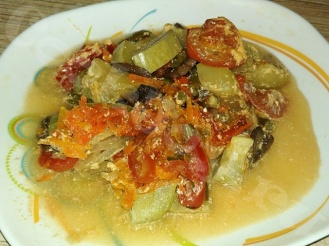 Овощи в сметанном соусе в мультиварке