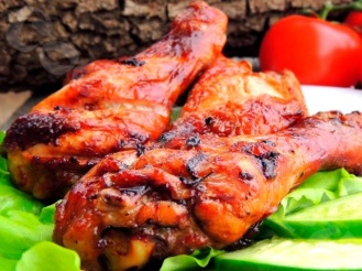 Куриный шашлык в соевом соусе