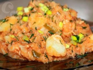 Вкусно-тушёное блюдо с капустой