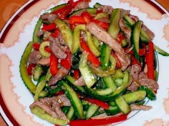 Салат «Мясо с овощами»