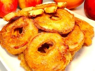Сладкие яблочные колечки