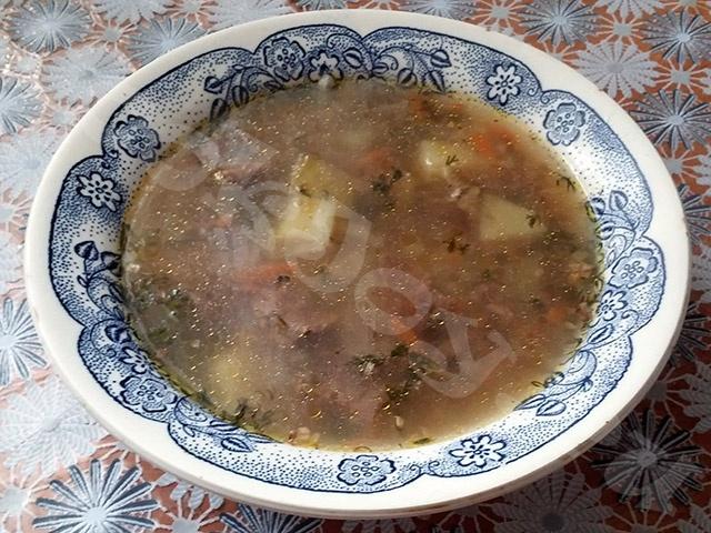 Суп гречневый в мультиварке