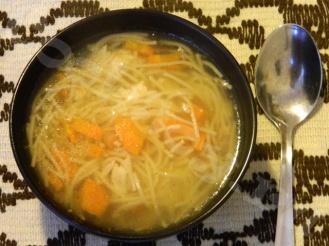 Суп на курином бульоне с вермишелью