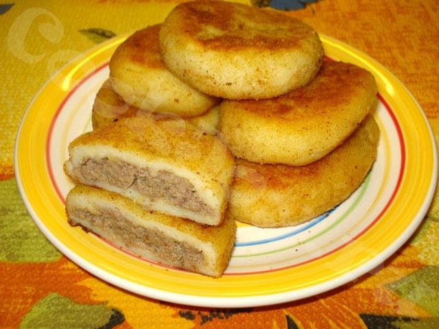 Картофельные зразы с куриной печенью