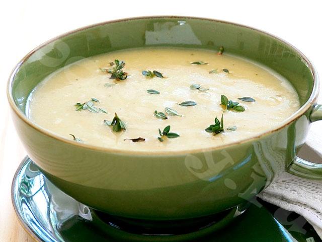 Суп рисовый протертый