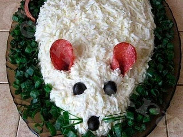 Салат «Белая мышка»