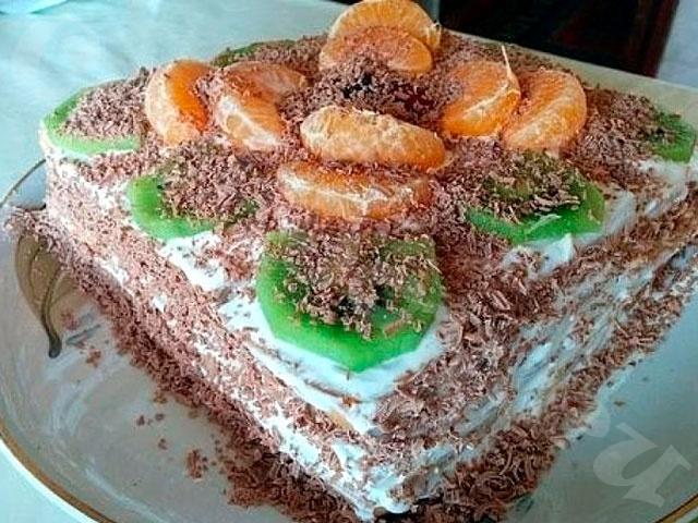 Торт без выпечки на 30 минут