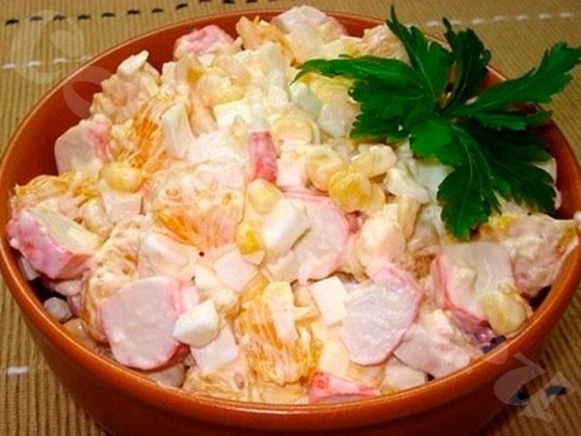 Крабовый салат по-королевски