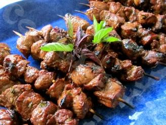 Шашлыки по-гречески из баранины