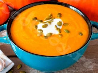 Легкий тыквенный суп-пюре с сыром